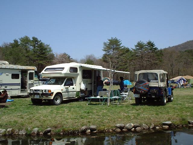 仁川キャンプ場で