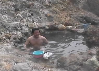 鍋山の貴重なお湯