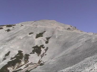 白馬岳への尾根 杓子岳をトラバース