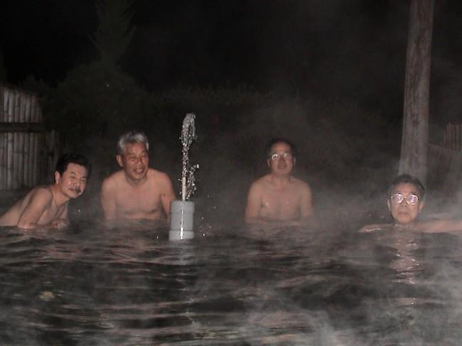 真夜中の露天風呂