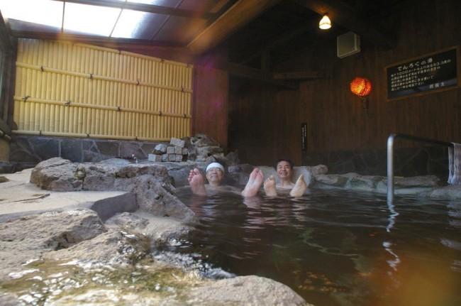 露店の雰囲気のお風呂