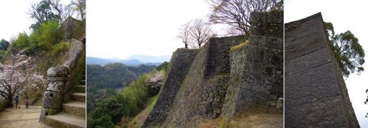 岡城趾の石垣