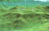 極楽寺山を北側からの俯瞰したMAP