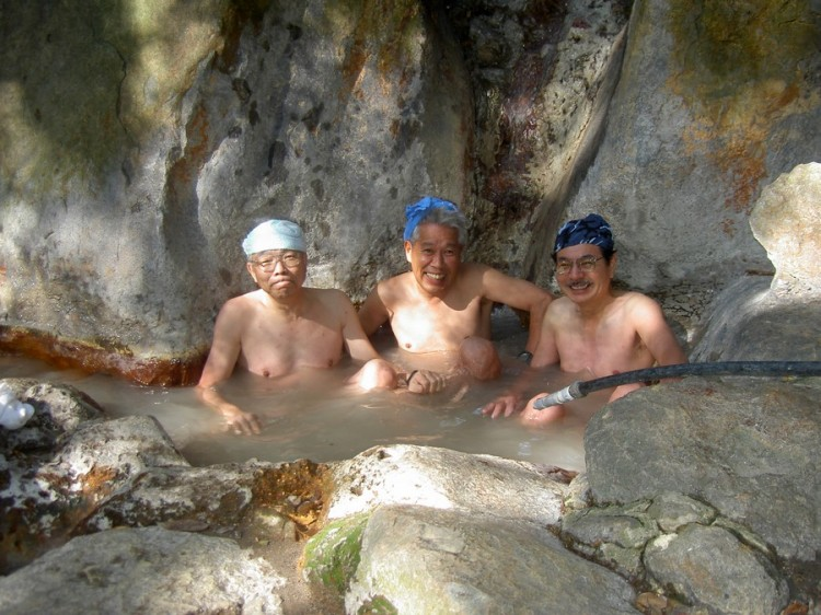 かなり熱かった岩風呂