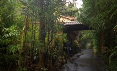 湯之谷山荘の玄関