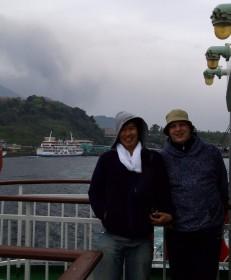 桜島から鹿児島へフェリーで