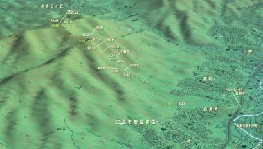 荒谷山登山マップ