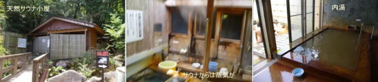 天然サウナ と 内湯