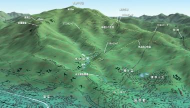 水分峡から笹ヶ峠付近のマップ