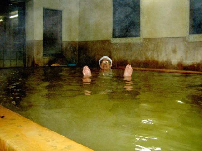 真夜中の筌ノ口温泉共同湯