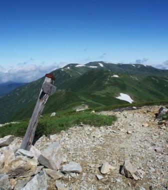 9:11 北ノ俣岳への緩やかな尾根です