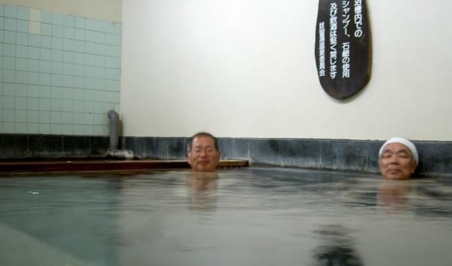 お湯はぬるいのでしっかりと温まりましょう