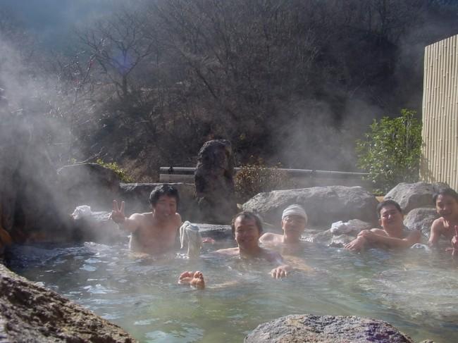 塚原温泉に露天風呂が出来ていました
