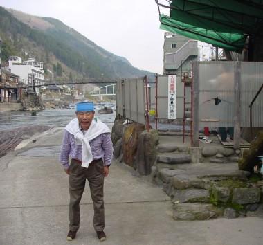 玖珠川のよこの露天風呂