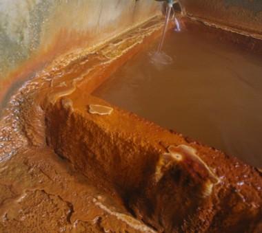 湯の結晶の模様の浴槽