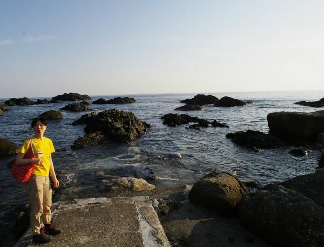 今回も海中温泉は海の中