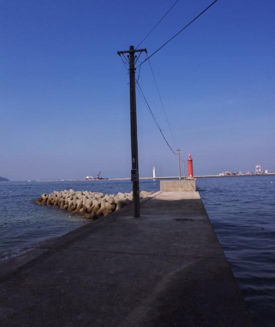 宇品港の防波堤