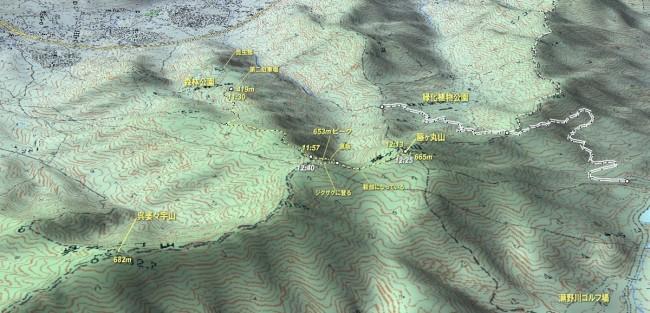 籐ヶ丸山 登山マップ