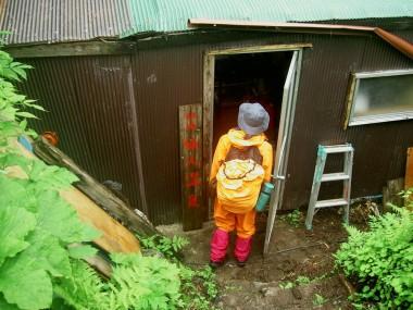 仙人温泉小屋の立山側の扉