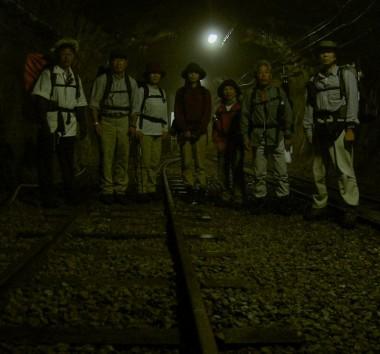 トンネルを歩いて黒薙温泉に