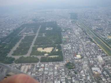 12:30 京都御所上空を飛行中