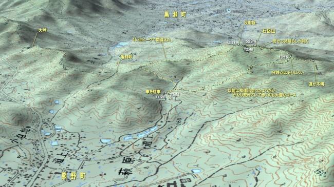 石岳山MAP