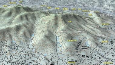 武田山から火山へのMAP