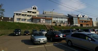 大きな駐車場がある