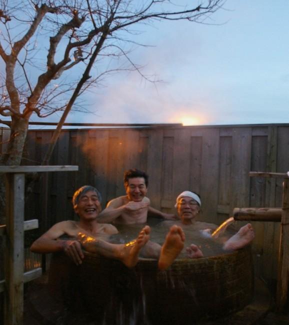 真冬の源泉の入浴