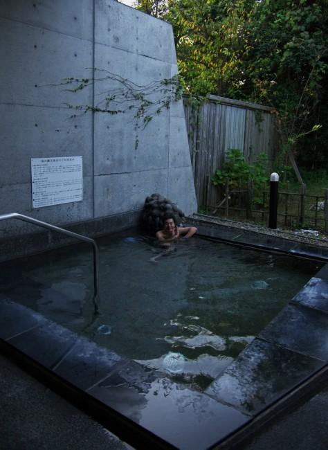 露天風呂は海水風呂となっている