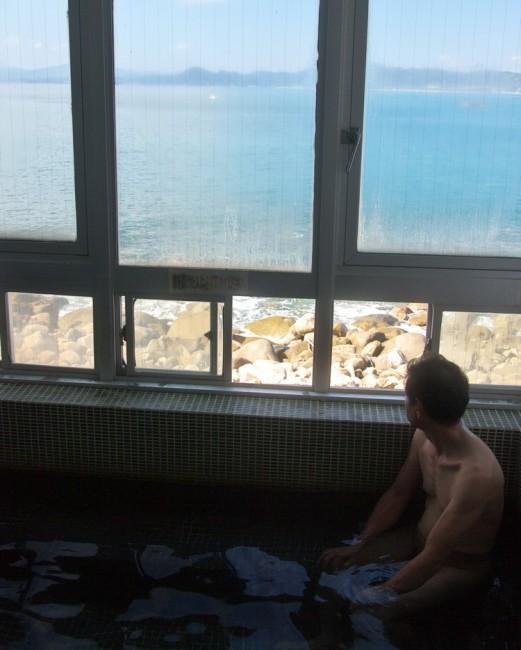 土佐湾の太平洋を眺めながら