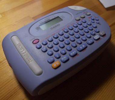 今まで使用していたKL-P8(CASIO)