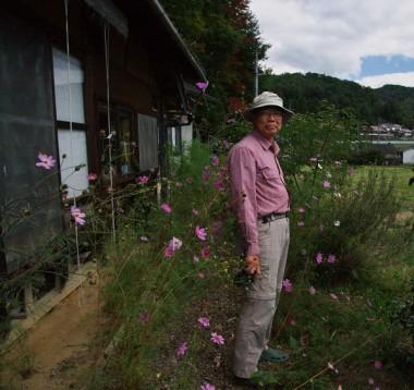 家の前はコスモスが咲いている