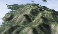 宮島登山地図