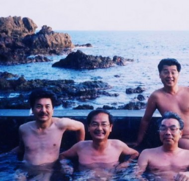 翌朝に日本海を眺めて朝風呂