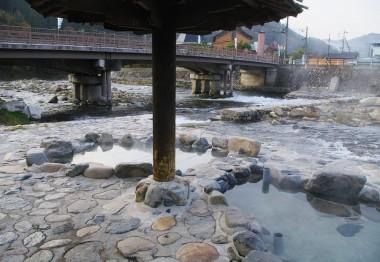 観光用の露天風呂