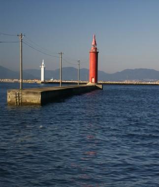 広島港(宇品港)の防波堤