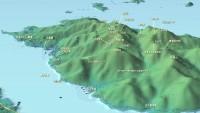 宮島岩船山への縦走マップ