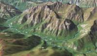 上高地から横尾山荘MAP