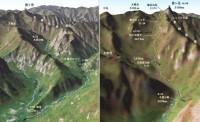 横尾から槍ヶ岳へのMAP