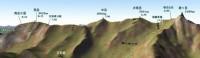 槍ヶ岳から南岳へのMAP