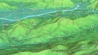 戸坂から二ヶ城へのマップ