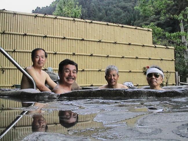 登山の後の露天風呂は気持ちがよい