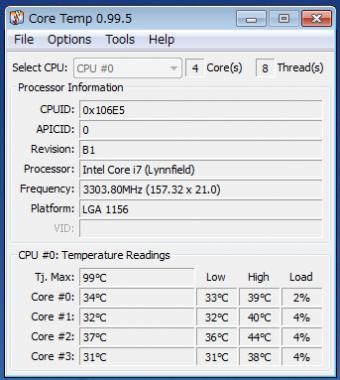 O/CでPCアイドリングでは35℃前後