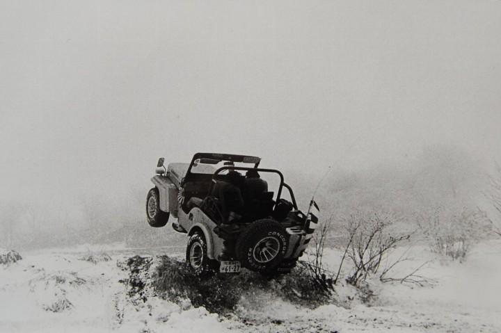 雪山で一日中遊んでいました