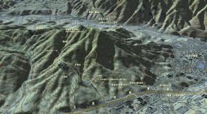 広島市安佐南区久地の岳山の登山地図
