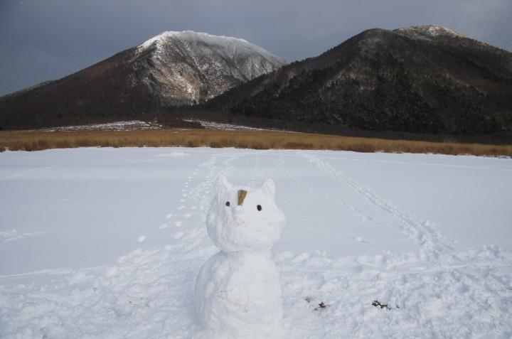 雪の三瓶山 西の原