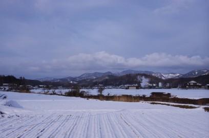 高野町は雪だが道路には積雪はない