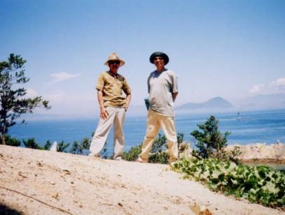 島の頂上に登る