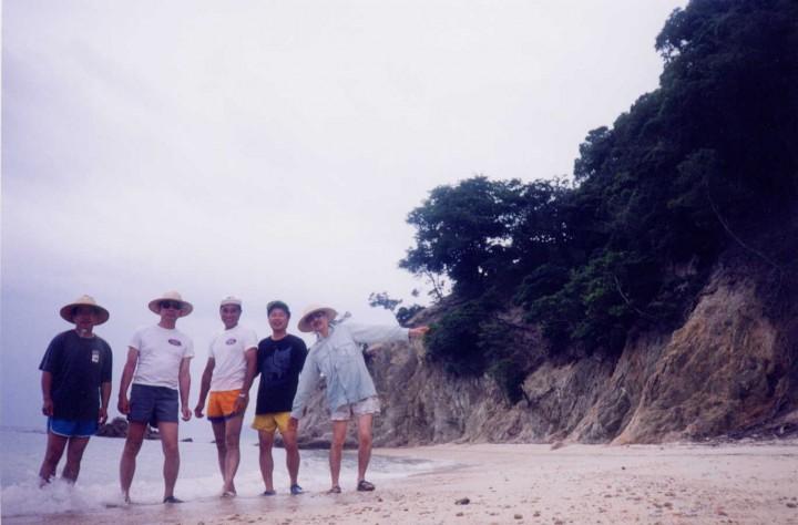 片島に上陸します